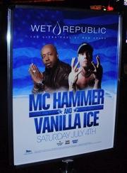 MC Hammer and Vanilla Ice